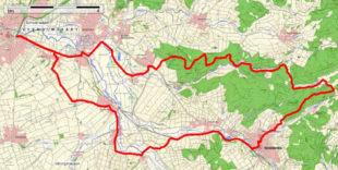 Die Eichwald-Runde auf der topografischen Karte. Repro: ADFC