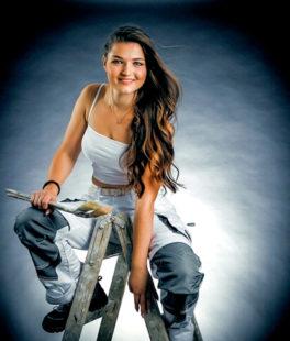 Miss Handwerk: Voten für Lisa Manns aus Falkenberg. Foto Axel Weiss
