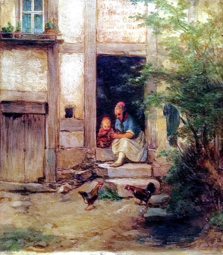 Solche Szenen liebte Dielmann: Schwälmer Kinder vor der Haustür. Repro: nh