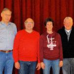 Der alte neue Vorstand der Knüllwaldmusikanten (v.li.): Berthold Preßler, Frank Schmidt, Anja Eckel und Hans Michelbach. Foto: nh
