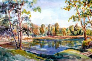 Der Gießener Gerd Römer ist vor allem Landschaftsmaler. Repro: nh