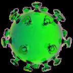 Das Coronavirus (Sars-CoV-2) im Modell. Repro: Henkie Tenk | Pixabay