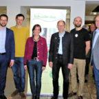 Dr. Philipp Rottwilm, Dirk Posse, Sonja Pauly, Josef Rother, Samuel Waldeck und Claus Steinmetz (v.li.). Foto: Regionalentwicklung Schwalm-Aue