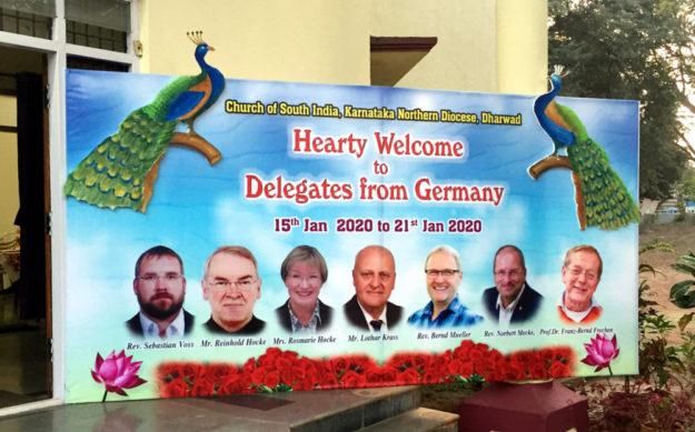 Begrüßungsplakat für die Gäste aus Nordhessen. Foto: Reinhold Hocke