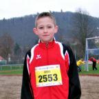 Jean Heilmann holte sich den nordhessischen Titel im Crosslauf der MU12. Foto: nh