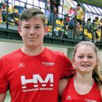 Luis André und Nele Schmoll siegten beim internationalen Hallensportfest in Dortmund. Foto: nh