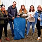 """Jasmin Möller, Christoph Sippel, Franziska Jäger, Julia Grunewald-Discher und Lisa Schenk (v.li.) gehören zu denen, die sich die Aktion """"4Weeks4Clean"""" ausgedacht haben. Foto: Jugendförderung des Schwalm-Eder-Kreises"""