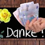 Eine Dankeschön ist ja ganz nett – mehr Geld in der Lohntüte wäre noch netter! Fotomontage: gsk