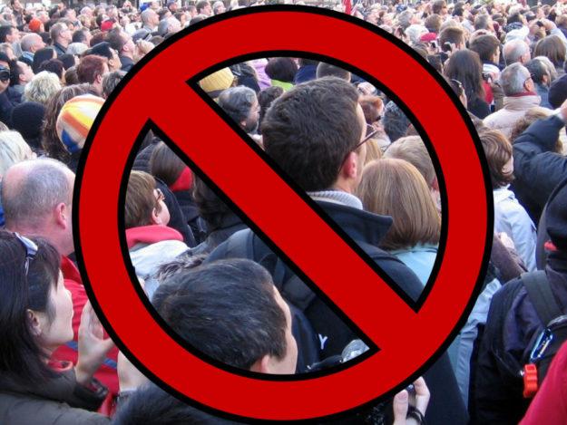 Im Zuge einer Allgemeinverfügung hat der Schwalm-Eder-Kreis am Samstag sämtliche Versammlungen mit mehr als 100 Personen verboten. Foto: nh