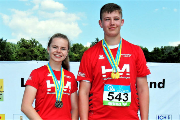 Vivian Groppe und Luis André, die beiden erfolgreichen Nachwuchsathleten der MT Melsungen. Foto: nh