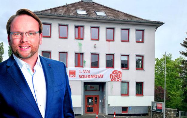 Timon Gremmels erklärt namens der SPD Nordhessen die Solidarität zu den Gewerkschaften mit ihren Aktionen zum 1. Mai. Fotomontage: gsk
