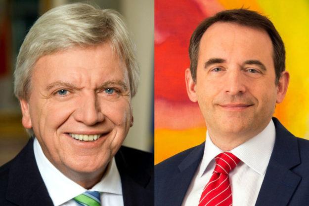 Ministerpräsident Volker Bouffier (li.) und Kultusminister Alexander Lorz. Fotos: Staatskanzlei