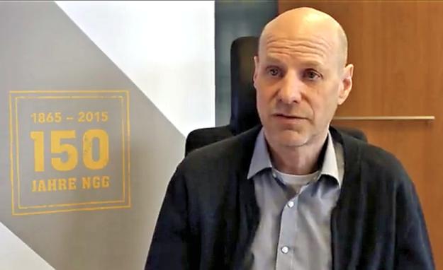 Andreas Kampmann, NGG, in einem DGB-Interview. Screenshot: nh