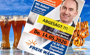 Auf die spannenden Ausführungen von Hubert Aiwanger müssen die Gäste der FREIE WÄHLER noch warten. Foto: nh