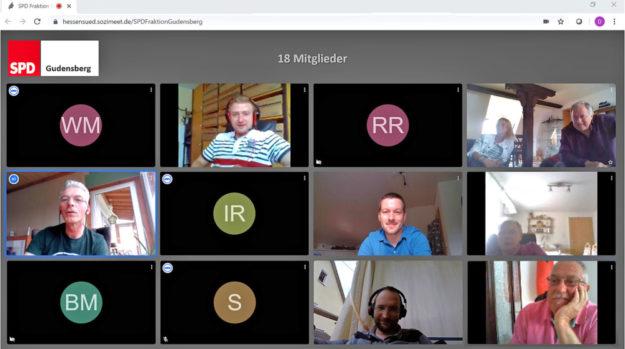 Der typische Bildschirm einer Video-Konferenz. Nach diesem Muster trifft sich die Gudensberger SPD auch zu ihren Partei-Sitzungen. Foto: SPD
