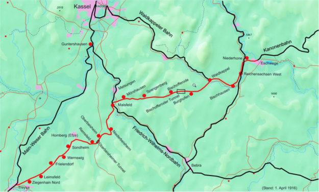 Die einstige Kanonenbahn bietet laut Prof. Dr. Wassmann infrastrukturelles Potenzial für eine touristische Erschließung. Skizze: nh