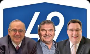 Von links: Bernd Siebert (MdB), Fraktionsvorsitzender Reinhard Otto (CDU) und CDU-Kreisvorsitzender Mark Weinmeister. Montage: gsk