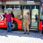 Zu Besuch beim Busunternehmer Ulrich Zulauf (2.v.li.) waren die FDP-Vertreter Helmut Reich, Prof. Dr. h.c. Ludwig Georg Braun und Wiebke Knell. Foto: nh