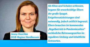 Jenny Huscke, Geschäftsführerin der DGB-Region Nordhessen. Grafik: DGB | nh