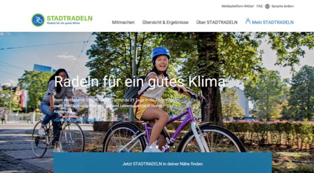 Das Stadtradeln hält gesund und ist gut für das Klima. Screenshot: SEK-News
