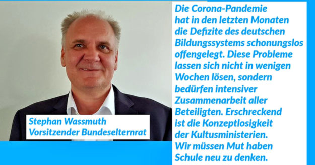Stephan Wassmuth, Vorsitzender im Bundeselternrat. Grafik: DGB | nh
