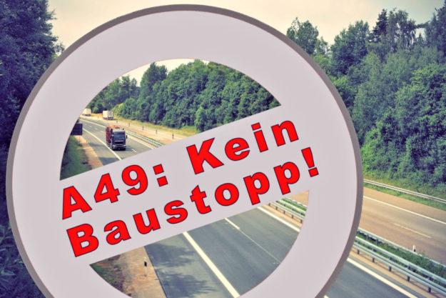 Der BUND ist abgeblitzt, das Bundesverwaltungsgericht hat die Klage gegen den Weiterbau der A49 nicht zugelassen. Montage: gsk