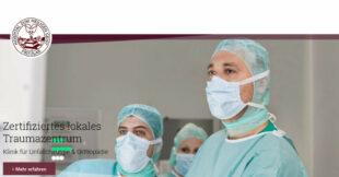 Homepage des Hospitals zum Heiligen Geist. Screenshot: gsk