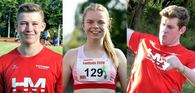 Auf Luis André, Vivian Groppe und Johannes Berg liegen am Wochenende die Medaillen-Hoffnungen. Fotos: nh