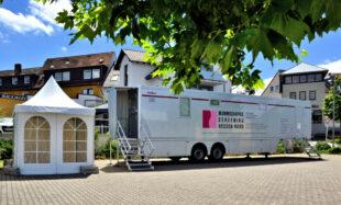 Das Mammograife Mobil ist demnächst wieder mit seinem ärztlichen Service auf Tour. Foto: Gerald Schmidtkunz