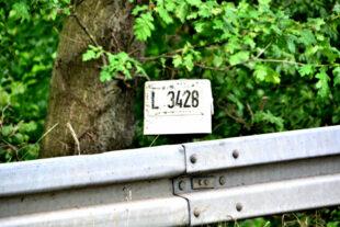 Das Stationszeichen der Landesstraße 3428 bei Berndshausen. Foto: Gerald Schmidtkunz