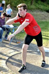 Johannes Berg holte sich mit der Kugelstoß-Bestleistung von 12,12 m die Bronzemedaille. Foto: nh