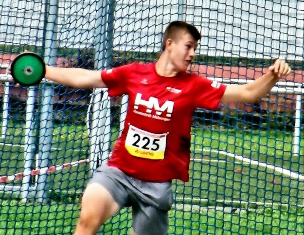 Kann Luis in Darmstadt seine deutsche Jahresbestleistung von 57,62 Meter erneut verbessern? Foto: nh