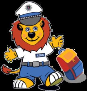 Kinderkommissar Leon ist seit Jahren bei der Hessischen Polizei. Den Schulanfängern hilft er jetzt wieder, auf dem noch fremden Schulweg sicherer unterwegs zu sein. Quelle: Polizei Hessen