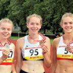 Nach Gold und Silber am Vortag sicherte sich die 15-jährige Vivian Groppe auch Silber über 400m der U20. Foto: nh
