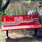 Welchem Zweck diese Bank dienen soll, steht klipp und klar auf den Sitzbrettern. Foto: Kultur- & Tourist-Info Melsunger Land e.V.