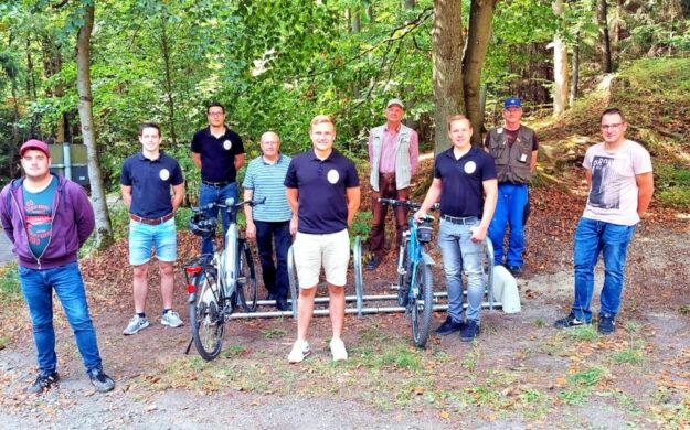 Von links: Wolfgang Kurz, Leon Morneweg, Stefan Kranz, Jürgen Lepper, Lukas Heiderich, Gerald Kurz, Johannes Schwalm, Arno Meckbach und Andre Schwalm. Foto: nh