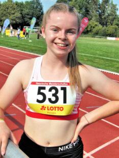 Erneut hatte die 15-jährige Grund zum Strahlen_ Gold über 200 m bei den Frauen. Foto: nh
