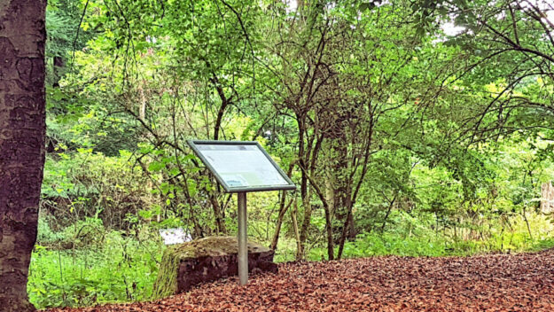 Eine Stationstafel am Keltenpfad. Foto: nh