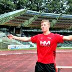 Mit dem Schleuderball stellte Luis André einen neuen U16-Rekord auf. Foto: nh