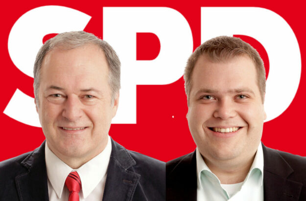 Treten als Spitzenkandidaten für die sozialdemokratische Politik ein: Michael Höhmann und Julian Brand (v.li.). Fotos: SPD | Montage: Schmidtkunz