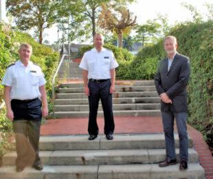 Leiternder Polizeidirektor Uwe Papenfuß, Polizeihauptkommissar Thomas Köhler, Kriminaldirektor Hubertus Hannappel. Foto: Polizei