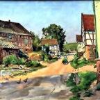 Paul Scholz: Dorfstraße in Bernsburg, 1943. Repro: nh