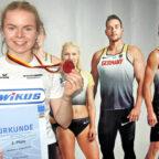 Stolz präsentiert Vivian Groppe die Bronzemedaille und Urkunde. Foto: nh