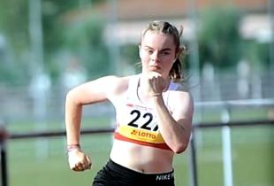 Vivian Groppe startet am Wochenende in Heilbronn bei den deutschen Jugendmeisterschaften über 100 und 200 Meter. Foto: nh