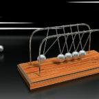 Wenn es um Impulsenergie geht, ist das newtonsche Kugelpendel das Symbol schlechthin. An dieser Stelle steht es für die Energieimpulsberatung beim Schwalm-Eder-Kreis. Foto: Wilfried Wende   Pixabay