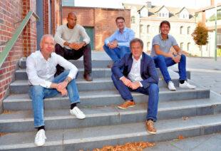 Die Initiatoren (v.li.): Prof. Dr.-Ing. Mark Junge (Limón GmbH, Präsidium VDI Nordhessen), Stefan Rötzel (Science Park), Dr.-Ing. Tobias Heidrich (IHK Kassel-Marburg, VDI-Präsidium), Prof. Dr.-Ing. Jens Hesselbach (VDI-Vorsitzender, Lehrstuhlinhaber umweltgerechte Produkte und Prozesse) und Leon Engelmeyer (Rinke GmbH, VDI-Präsidium). Foto: Harry Soremski   IHK