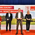 Blicken zuversichtlich auf die Kommunalwahl 2021 (v.li.): Michael Höhmann, Eveline Perrot, Edgar Franke, Christoph Degen, Nadine Millich und Frank Börner. Foto: Tobbias Kraft