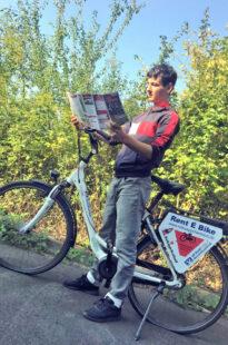 #mit Abstand mehr Radspaß 2020 – dafür können E-Bikes auch gemietet werden. Foto: Rotkäppchenland