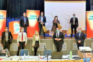 Die freien Wähler auf Kreisebene sind zum Kehraus bereit. Im Kreisverband stellten sie jüngst politische Weichen. Foto: FREIE WÄHLER