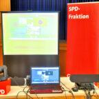 So sah er aus, der pandemiekonforme Konferenzplatz zur Fraktionsklausur im Bürgerhaus. Foto: SPD